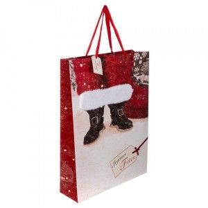 Sac cadeau H45 cm Bottines Rouge