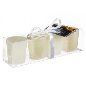 Lot de 4 bougies Votive Blanc