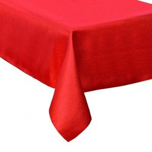 Nappe rectangulaire (L360 cm) Paillettée Rouge