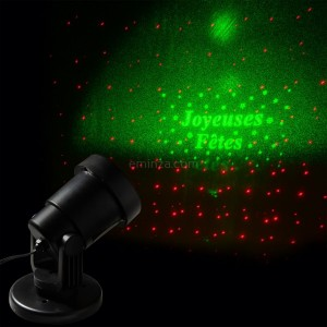 Laser projector Merry Christmas met afstandsbediening rood  LED