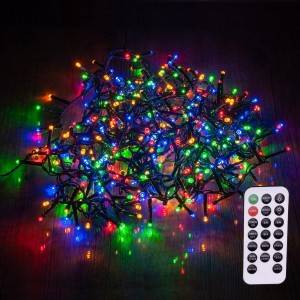 Luces de Navidad con mando a distancia 8 m Multicolor 400 LED