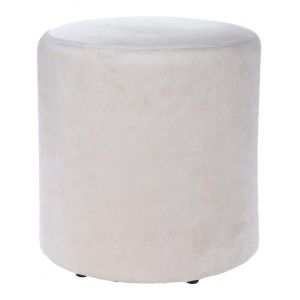 Lot de 2 poufs Assar Blanc