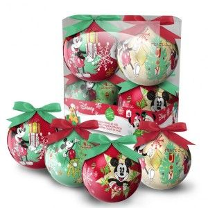 Lot de 4 boules de Noël Disney Mickey