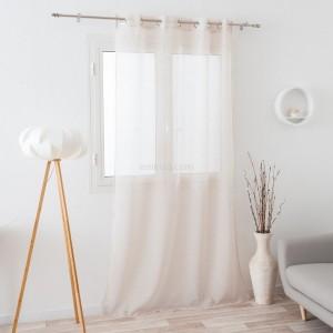voilage 140 x 240 cm susie blanc rideau voilage. Black Bedroom Furniture Sets. Home Design Ideas