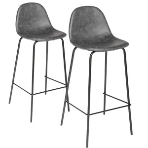 Lot de 2 tabourets de bar Vladi Gris
