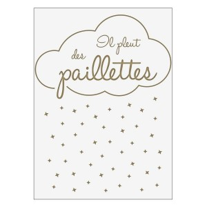 Sticker Paillettes Gold