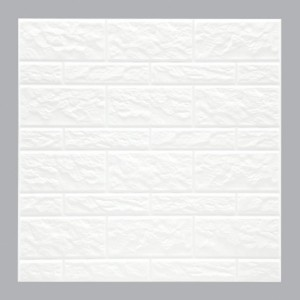 Lot de 2 planches stickers relief Muro Blanc