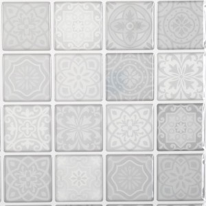 Lot de 2 planches stickers relief Carrelage Gris