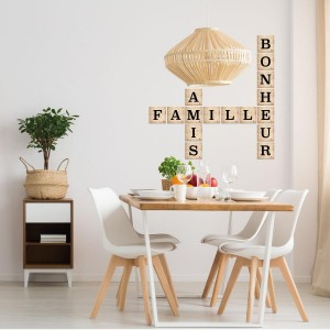 Sticker relief Lettres Beige