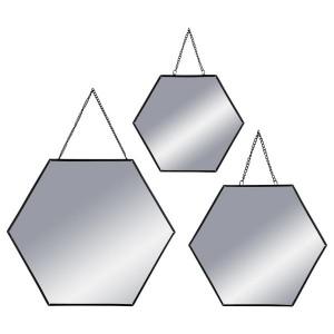 Lot de 3 miroirs Hexa Noir