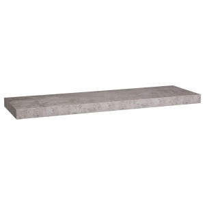 Wandregal (80 cm) Fixy Grau Beton-Optik
