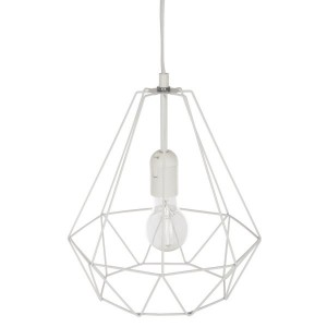 Suspension Diamant (29 cm) Blanche