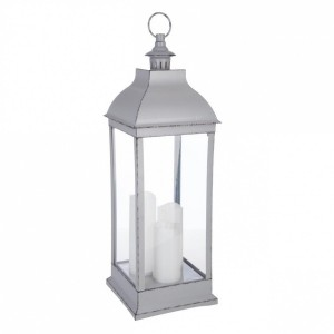 Lanterne led Antique Gris
