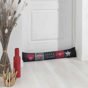 Coussin bas de porte Love Home Rouge