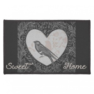 Tapis multi-usage (80 cm) Love Birds Gris