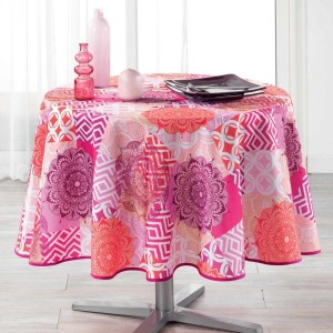 Nappe ronde (D180 cm) Flamenco Rose