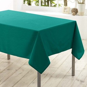 Nappe rectangulaire anti-tache (L300 cm) Essentiel Emeraude
