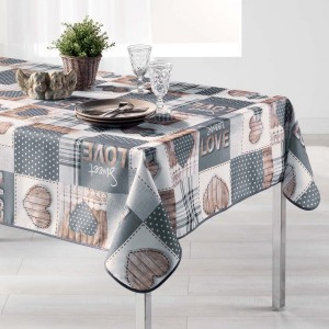 Nappe rectangulaire (L240 cm) Hearty Gris