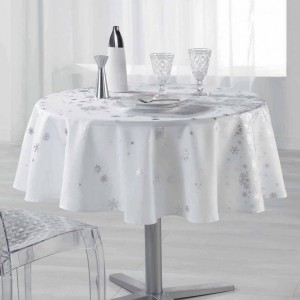 Nappe ronde (D180 cm) Constellation Blanc