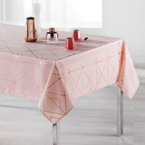 Nappe rectangulaire (L300 cm) Quadris Rose