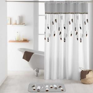 Rideau de douche - Accessoire douche/baignoire - Eminza