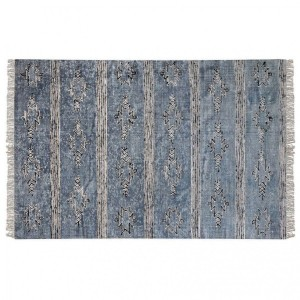 tapis tiss main 230 cm gamba bleu indigo tapis eminza. Black Bedroom Furniture Sets. Home Design Ideas