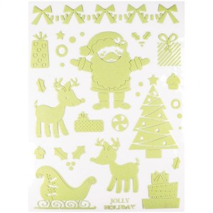 Fosforescente stickers Kerstman