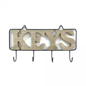 Percha de pared madera Keys Natural