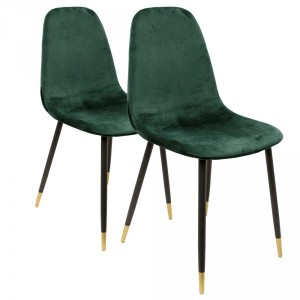 Lot de 2 chaises Hayden Vertes