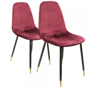 Lot de 2 chaises Hayden Rouges