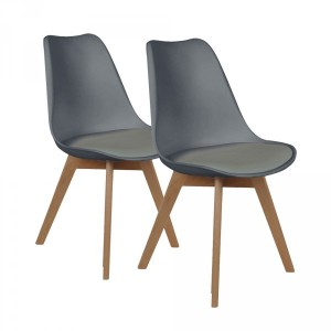 Lot de 2 chaises Lenzo Gris