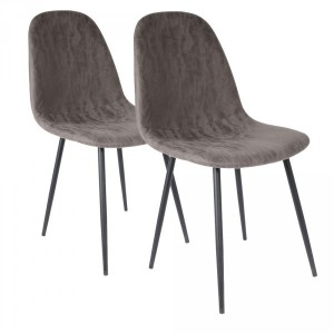 Lot de 2 chaises Brooklyn Gris