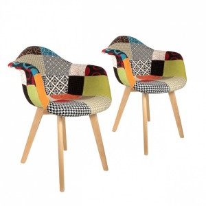Lot de 2 fauteuils Sohan Multicolore