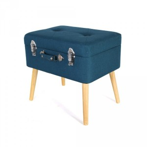 Pouf contenitore Valiseo Blu