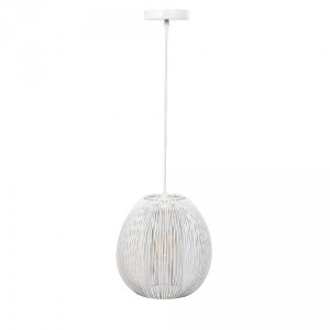 Suspension Boule Blanche