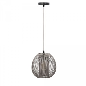 Suspension Boule Grise