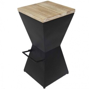 Lot de 2 tabourets de bar Loft Noir