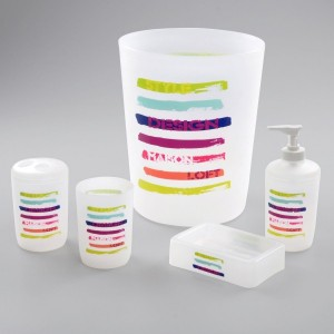 Kit accessori bagno New life Multicolore