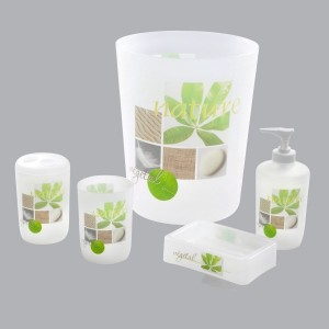 Kit accessori bagno Vegetal Verde