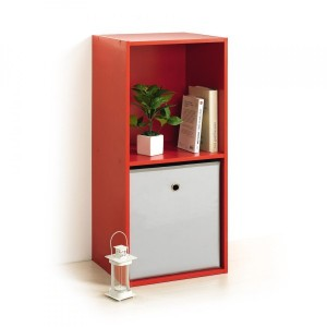 Etagère Homea 2 cases Rouge