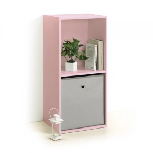 Etagère Homea 2 cases Rose poudré