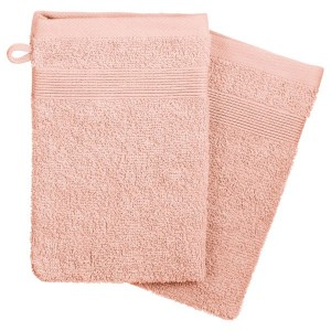 Lot de 2 gants de toilette Krista Rose