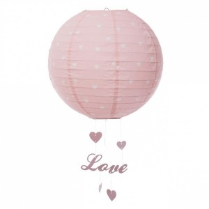 Lanterne Boule Love Rose