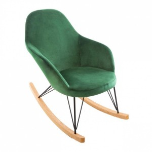 Rocking chair velours Ewan Vert