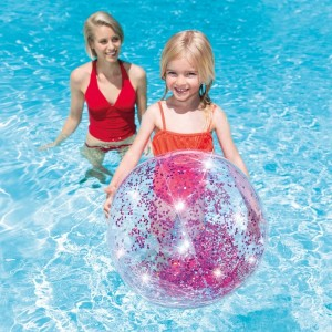 Glitter Strandbal Roze - Intex