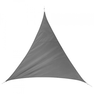 Voile d'ombrage Triangulaire (L3 m) Quito Luxe - Ardoise