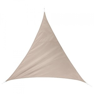 Voile d'ombrage Triangulaire (L5 m) Quito Luxe - Taupe