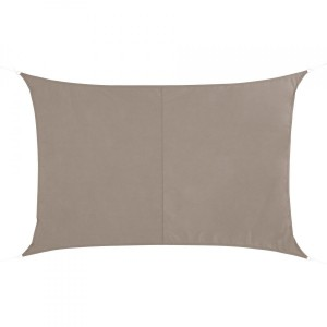 Voile d'ombrage Rectangulaire (L 4 x l 3 m) Quito Luxe - Taupe