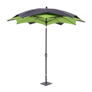 Parasol inclinable Raja rond (D 2,7 m) - Vert mousse