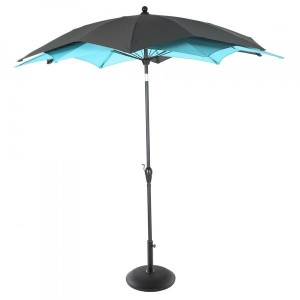Parasol inclinable Raja rond (D 2,7 m) - Vert Emeraude